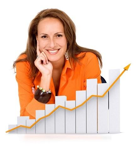 business woman - success